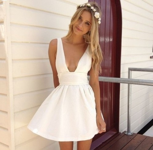 white dress vogueorvintage